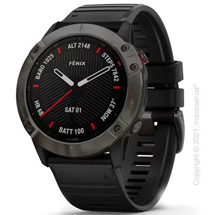 Спортивные часы Garmin Fenix 6X Carbon Gray DLC with Black Band