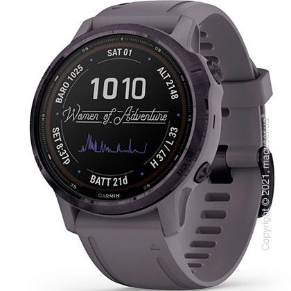Спортивные часы Garmin Fenix 6S Pro Solar, Amethyst w/ Shale Band