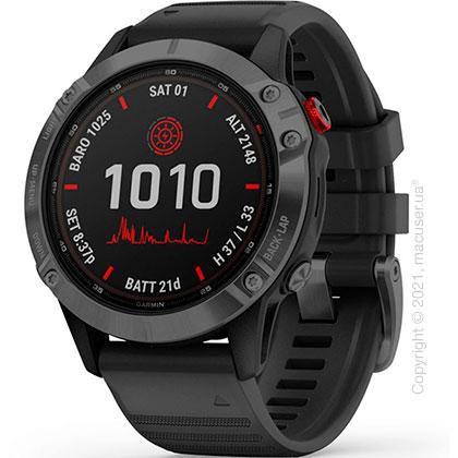 Спортивные часы Garmin Fenix 6 Pro Solar, Slate Gray w/ Black Band