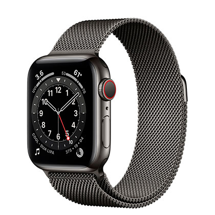 Apple Watch 6 40mm 4G Graphite Stainless Steel Case with Graphite Milanese Loop