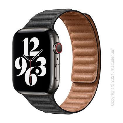 Apple Watch 6 Edition 44mm Space Black Titanium Case with Black Leather Link (M/L)