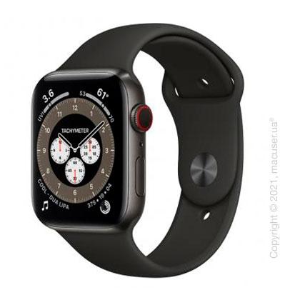 Apple Watch 6 Edition 44mm Space Black Titanium Case with Dark Gray Sport Band