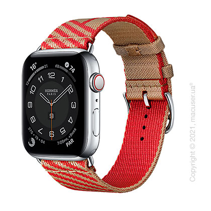 Apple Watch Hermes Series 6 LTE 44mm Silver Stainless Steel Case with Band Apple Watch Hermes Single Tour 44 mm