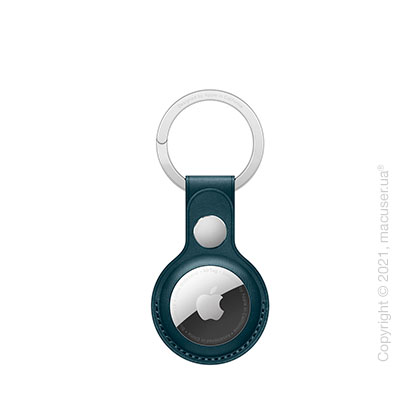 Apple AirTag Leather Key Ring Baltic Blue