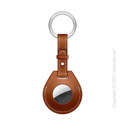 AirTag Hermès Key Ring Fauve