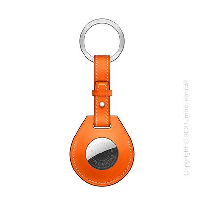 AirTag Hermès Key Ring Orange