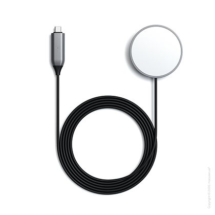 Satechi USB-C Magnetic Wireless Charging Cable Space Grey